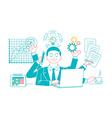 Businessman with multitasking vector image vector image