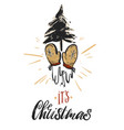 christmas greeting card - holidays vector image vector image