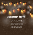 christmas party invitation background vector image