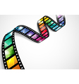 Colorful film strip vector image vector image