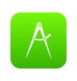 compass tool icon digital green vector image vector image