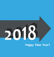creative happy new year 2018 design flat design vector image