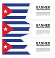cuba flag banners collection independence day vector image vector image