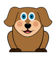 cute dog image vector image vector image