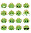 cute emoticons set cute emoticons set vector image vector image