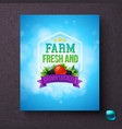 farm fresh and grown locally generic label vector image