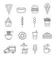 Fast Food Line Icons Set vector image