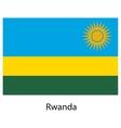 Flag of the country rwanda vector image