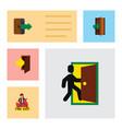 flat icon emergency set of entrance emergency vector image vector image