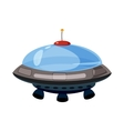Flying saucer icon cartoon style vector image