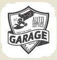 garage grinder prep vector image vector image