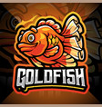 goldfish esport mascot logo design vector image