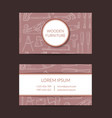 hand drawn woodwork elements business card vector image vector image
