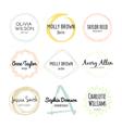 Handdrawn Logo Collection vector image