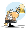 Happy BussinesMan Celebrating a Pint of Beer vector image vector image