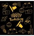 Happy Thanksgiving doodles art vector image vector image