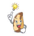 have an idea brazil nut mascot cartoon vector image