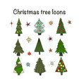 Icon set with christmas trees