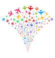 jet plane fountain stream vector image vector image