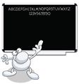 man blackboard vector image vector image