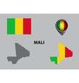 Map of Mali and symbol vector image