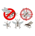 pest control mosquito icon set vector image vector image