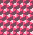 pink hexagonal pyramids seamless pattern vector image vector image