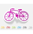 realistic design element bicycle vector image