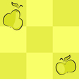 Seamless checkered background with fruits