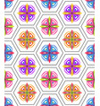 seamless colored ornamental geometric pattern vector image vector image