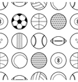 Seamless pattern with different sport balls Flat vector image vector image