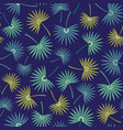 seamless repeat pattern of tropical palm vector image vector image