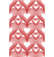 seamless texture with hearts metamorphosis for vector image vector image