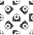 secure mail seamless pattern on white background vector image vector image