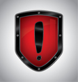 Security alert shield symbol icon vector image