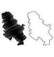 serbia map vector image vector image