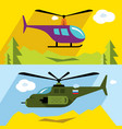set civil and military aviation flat vector image vector image