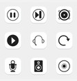 set of 9 editable audio icons includes symbols vector image vector image