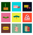 set pixel icons of fast food vector image vector image