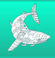 shark robot color fashion vector image vector image