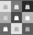 shopping bag grayscale vector image vector image