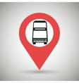 signal of two floor bus isolated icon design vector image vector image