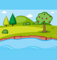 simple nature landscape background vector image vector image