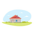 small brick house vector image