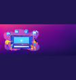 smarttv content concept banner header vector image vector image