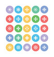 Snowflakes Colored Icons 1 vector image vector image