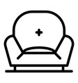 soft chair icon outline style vector image vector image