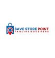 store point logo design template shop center logo vector image vector image