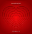 valentines day minimalist greeting card vector image