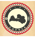 Vintage label-sticker cards of Latvia vector image vector image